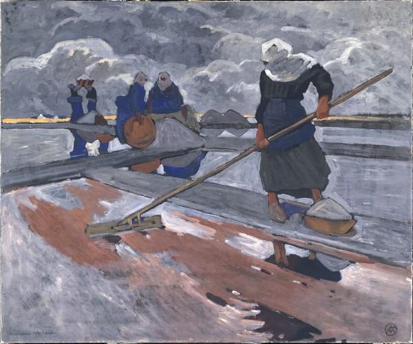 Les ramasseuses de sel à Guérande (Musée d'Orsay à Paris) - Photo ADAGP -
