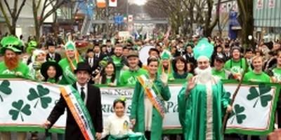 le défilé de la Saint-Patrick d'Omote-Sando à Tokyo (photo Irish-Network-Japan.com)