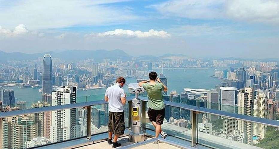 Vue générale sur la baie de Hong-Kong (Photo Laurent Fievet/AFP/Getty Images)