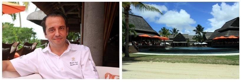 1/Michael Scioli, chef des cuisines de l'établissement 2/Vue sur les terrasses et les piscines du Constance (Photos David Raynal)