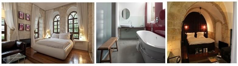 Deux des sept suites romantiques et salle de bain (Photos L.D.)