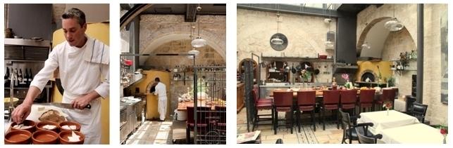 le jeune chef Yaron Winkler dans sa cuisine et  la galerie du Boutique-hôtel Alegra (Photos LD.)