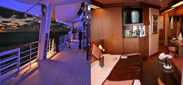 1/ Au large de la Turquie sur le Costa Magica  ©Patrick Cros 2/ Une suite de charme à bord du Costa Magica  ©Patrick Cros