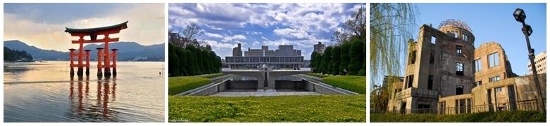 Le parc pour la paix long de plus de 850 mètres, et dessiné par Tange Kenzô,  et situé à Hiroshima (Japon) (Photos OT Japon)