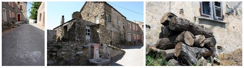 Vues du petit village de Grate dans la vallée du Rostino (photos David Raynal).