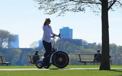 Qugo un moyen de transport idéal pour se promener en ville et dans les parcs (photo LD)