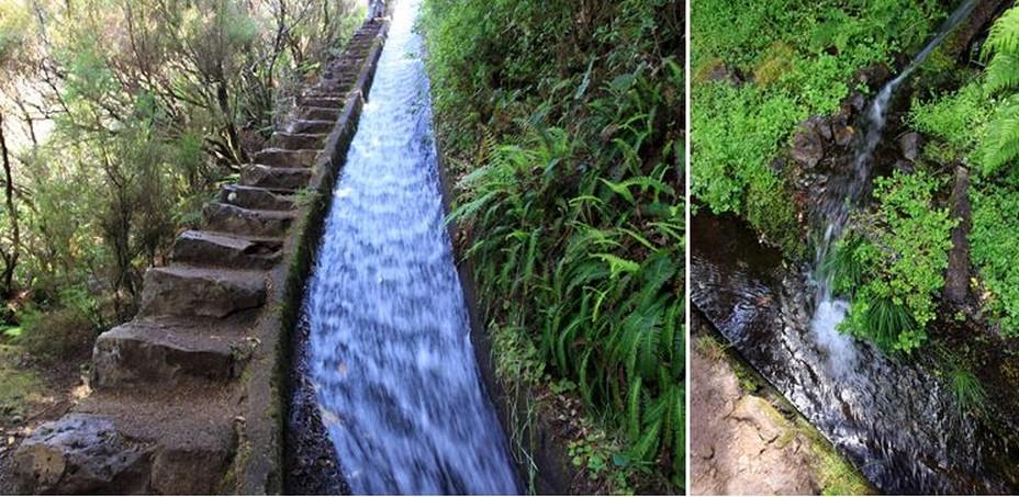 Les levadas:  Construit à partir du 16ème siècle cet ingénieux et admirable système de canaux d'irrigation a entièrement été creusé dans la roche des mains de l'homme. @ David Raynal