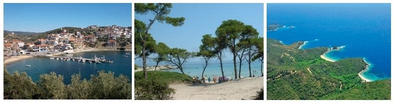 Différents paysages de la région de Chalcidique en Thessalonique proche de la mer Egée (Photo OT Grèce)