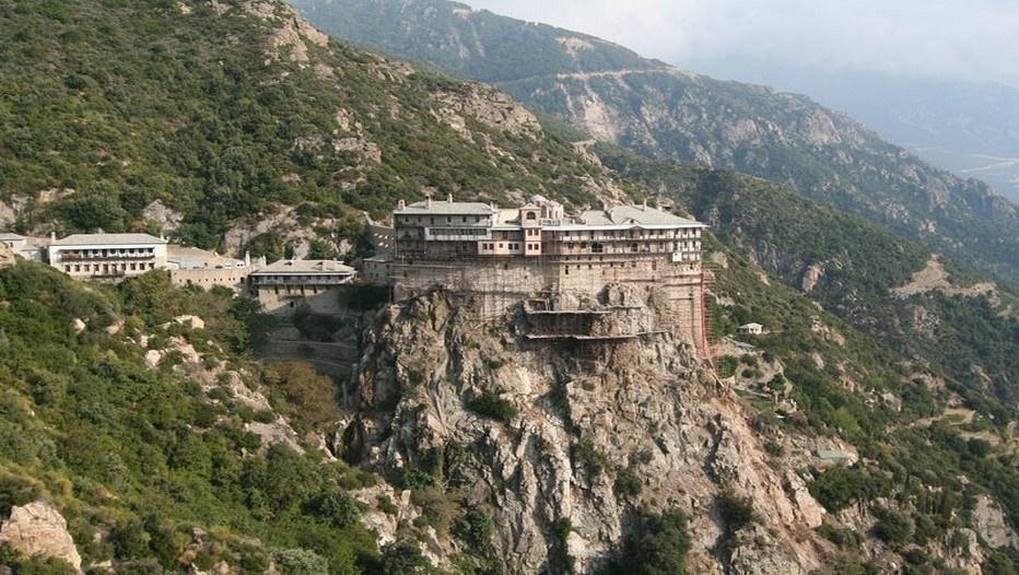 Mont Athos. Au nord de la Grèce situé dans la presqu'île de Chalcidique (photo O.T. Grèce)