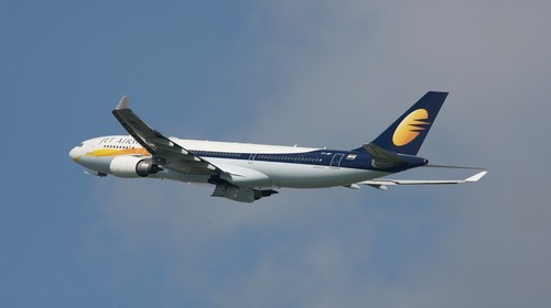 Airbus en plein vol de la Cie Jet Airways (© Paul Marais-Hayer)