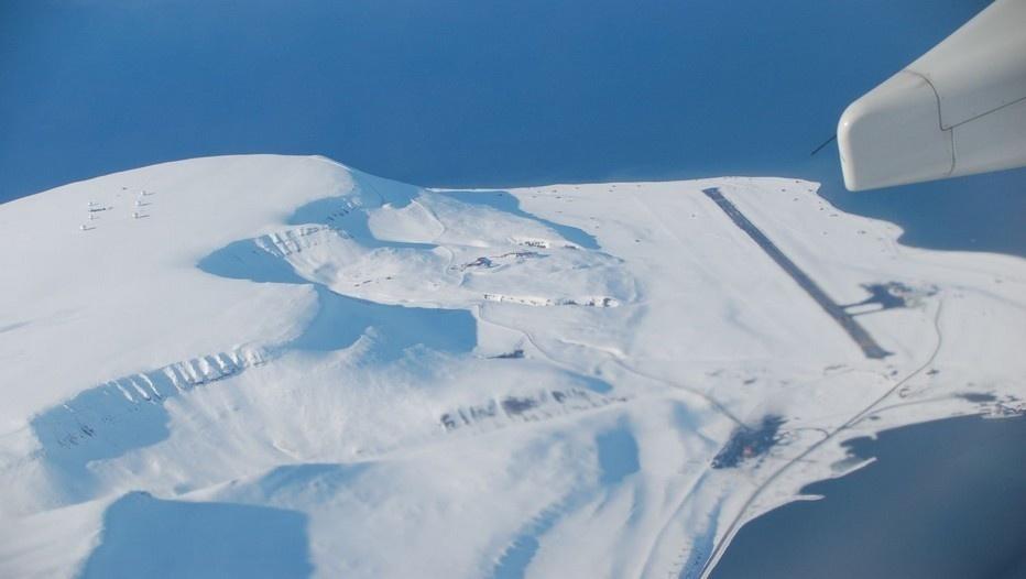 Vol touristique au-dessus du Pôle Nord Photo Spitzbergen.Flughafen_kl )