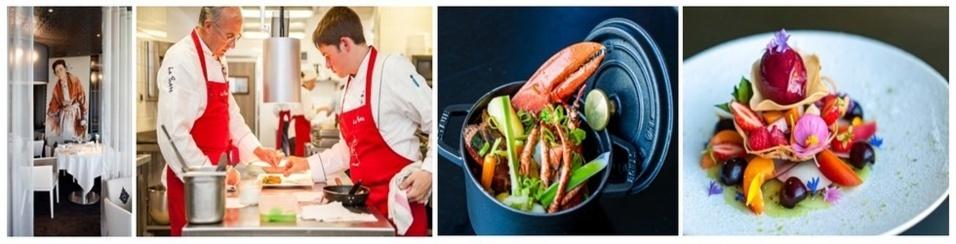"""La salle du célèbre restaurant """" La Butte"""", le chef  Nicolas Conraux en plein travail, et  des plats à découvrir pour le plaisir des papilles. (photos LD)"""