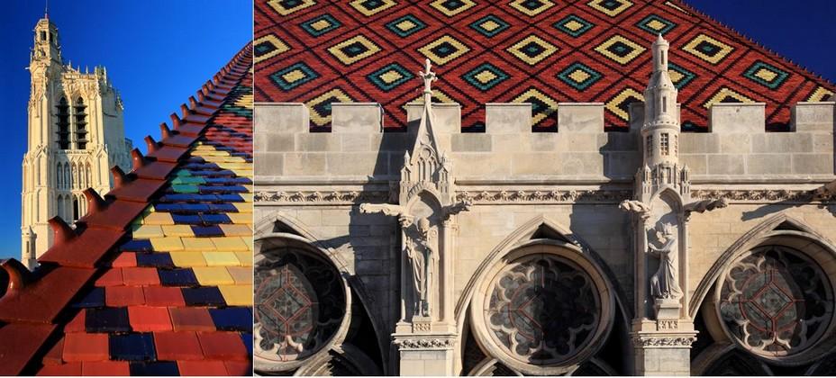 Les vastes toits de tuiles vernissées du Palais synodal et de l'ancien Palais des archevêques  @ Creative Commons/DR