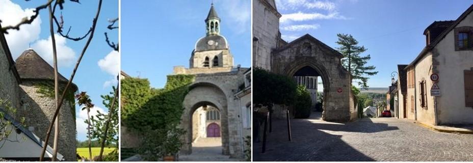 De gauche à droite à Joigny : Tour de la Prison; Place Saint-Jean, Quartier Saint-André. @ OT. Joigny-Jovinien