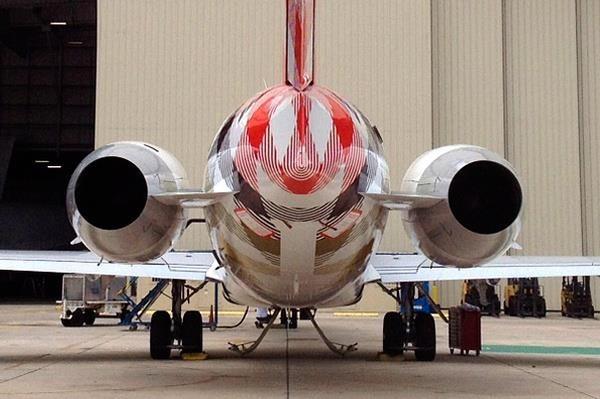 Empennage et Fuselage arrière du biréacteur Boeing 717.(photo D.R.)
