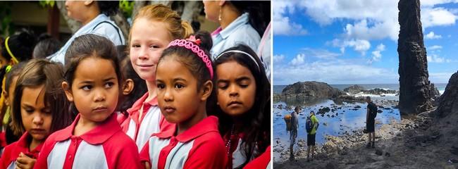 Le population est estimée à 4300 habitants. Ce sont des descendants d'européens, de chinois, mais également d'esclaves (principalement de Madagascar et d'Asie) @ OT Sainte-Hélène.