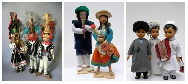 Zoulous d'Afrique du Sud, Aïnous du Japon, aborigènes d'Australie, Inuïts en Arctique, Matyos de Hongrie….partez à la découverte d'ethnies extraordinaires (Crédit photo : Musée de la poupée).