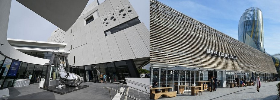 Musée Mer Marine©Jean Bernard Nadeau et Les Halles de Bacalan©Loïc Graniczny