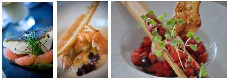 1/ Barbue Tri Men 2/ Ravioles de langoustines 3/ Tartare de fraises (photos D.R.)