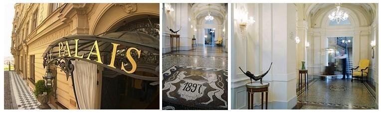 1/ Enseigne du Palace 2 et 3/ Magnifique entrée Art  Déco (photos D.R.)