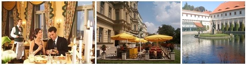 1/. Le restaurant « le Papillon » offre une table gourmande et gastronomique pour déguster la traditionnelle cuisine tchèque  2 et 3/ La terrasse  très bien exposée à l'abri des regards (Photo D.R.)