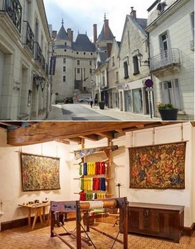 Le Château de Langeais se dresse au coeur du village @C.Gary et Atelier du Lissier @JB Rabouan