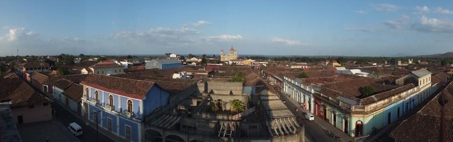 Vue générale sur la ville de Granada ,déclarée Patrimoine historique et culturel  du Nicaragua (Photo Gwenael Cavellec )