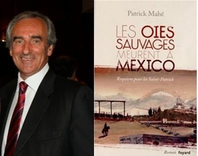 """Patrick Mahé, auteur du roman """"Les Oies sauvages meurent  à Mexico""""  (Photo David Raynal)"""