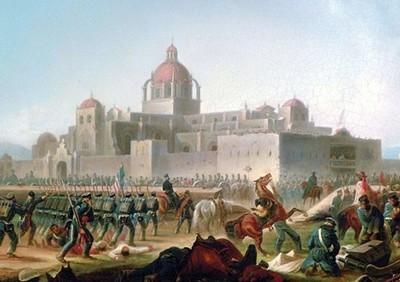 Bataillon des Saint-Patrick, alias Los San Patricios, un régiment constitué de déserteurs de l'armée des États-Unis, de confession catholique qui se mirent au service du Mexique entre 1846 et 1848. (photo L.D.)