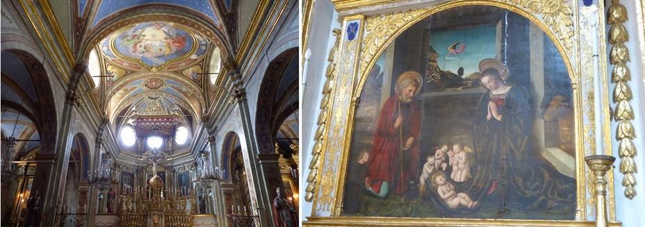 La Brigue  Collégiale baroque Saint-Martin @Drone de Regard  et  La Brigue Collégiale Saint Martin Nativité du XVè siècle  @C.Gary
