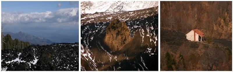 Coulée de lave de l'Etna (Sicile), l'un des nombreux volcans mis en avant à Vulcania ©Patrick Cros