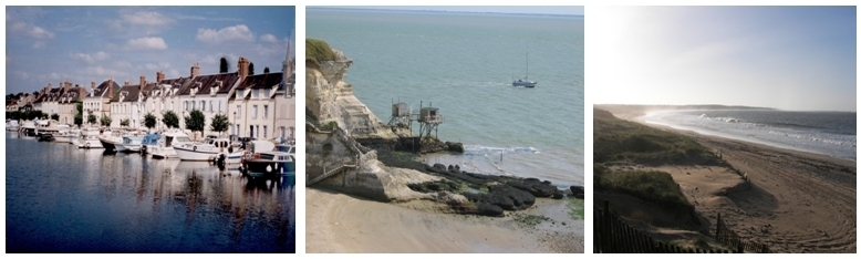 1/Port de Briare, le Canal (Photo CCI du Loiret) 2/ Meschers sur Gironde (Photo Mairie de Meschers) 3 /Plage de Saint-Denis d'Oléron (Photo Dominique Abit)