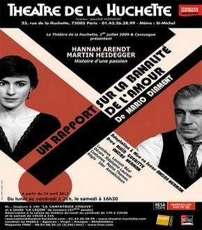 """""""Un rapport sur la banalité de l'amour"""" au Théâtre de la Huchette"""