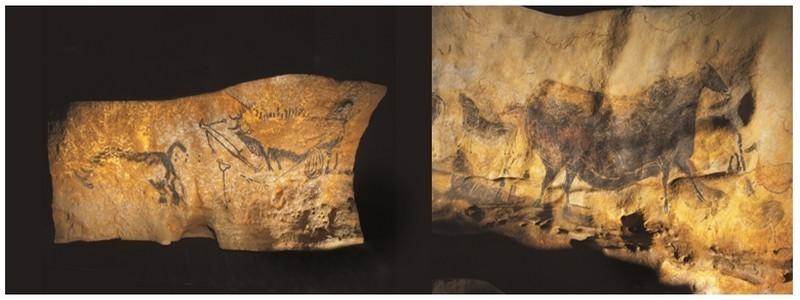 De gauche à droite La scène du puits ©Semitour et  La vache noire ©Semitour