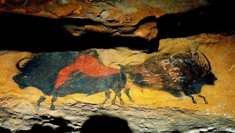 Le patrimoine de la Grotte de Lascaux, comme ici les Bisons adossés, se dévoile à l'international à l'aide d'une exposition itinérante gérée par une Spl ©Semitour