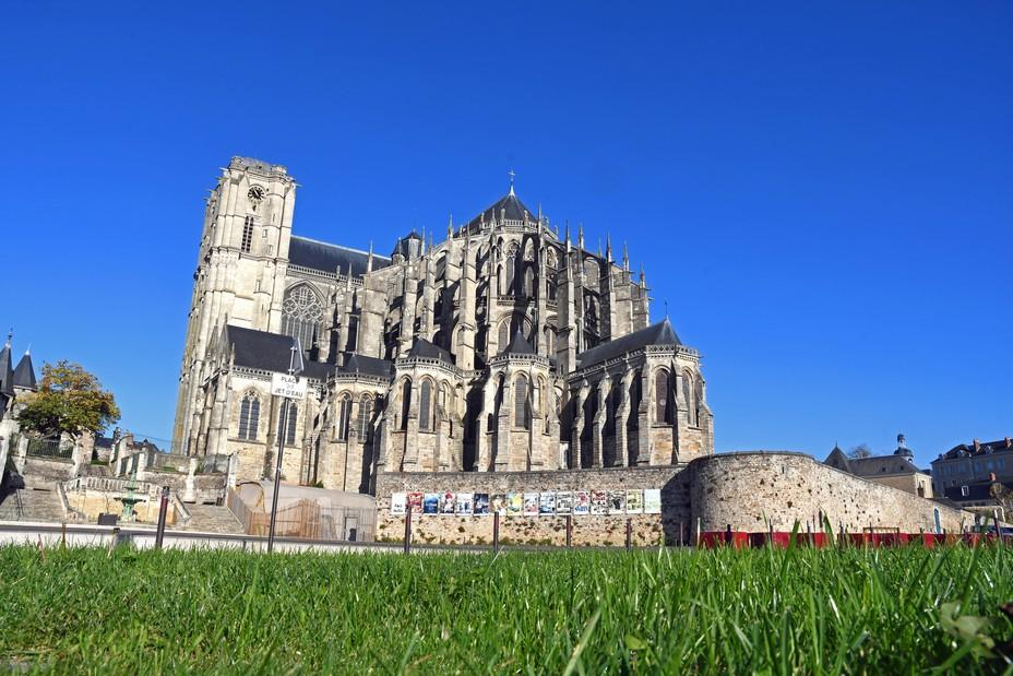 Chevet de la cathédrale en exterieur  © pierre poirrier ville du mans