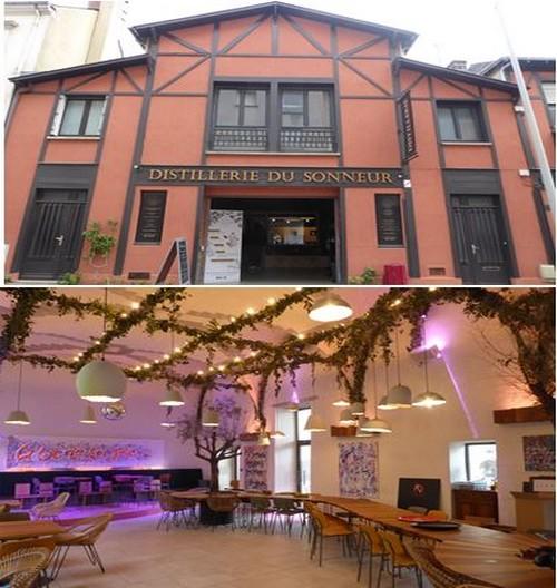 De haut en bas : Distillerie du Sonneur @ C.Gary  ; Restaurant  La Visitation @ C.Gary