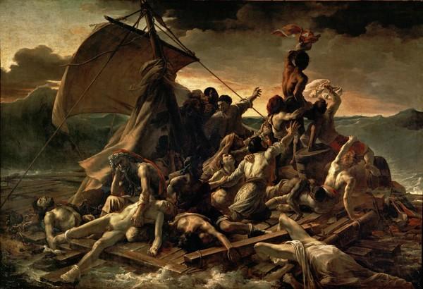 """Le """"Radeau de la Méduse"""" célèbre tableau de Théodore Géricault (1791-1824) - © Musée du Louvre"""