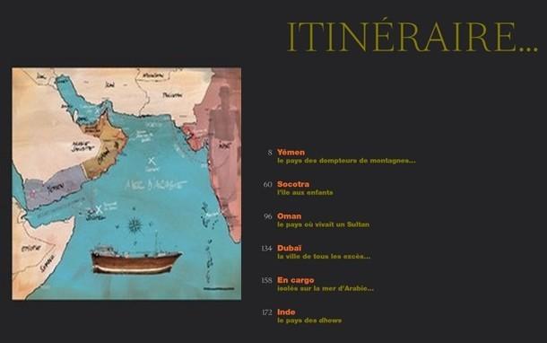 Carte de l'itinéraire de ce carnet de voyage (photo DR)