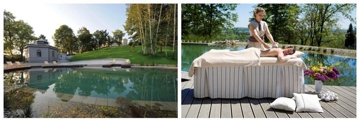 Spa, sauna, lac, jacuzzi en plein air, tout est relié pour permettre de profiter au mieux et en toute saison des bienfaits que prodigue la nature.(Photos DR)