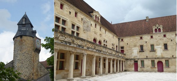 1/  Bar-le-Duc La tour de l'horloge, rare vestige des remparts démolis sous Louis XIV. @C.Gary . 2/ Collège Gilles de Trèves Bar-le-Duc  @C.Gary