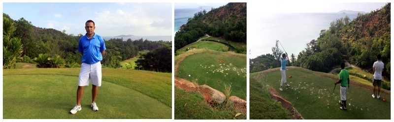 """Le Lémuria est aussi mondialement réputé pour son magnifique golf signé Rodney Wright et Marc-Antoine Farry. Longeant l'anse Kerlan et bordé d'arbres tropicaux, il offre des paysages fantastiques qui justifient son surnom de"""" golf des dieux"""" (crédit photo David Raynal)"""