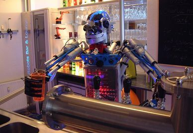 Carl le robot-barman créé par  Ben Schaefer  (photo DR)