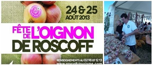 """A droite : Le grand marché de la """"fête de l'Oignon de Roscoff""""  (Photo DR)"""