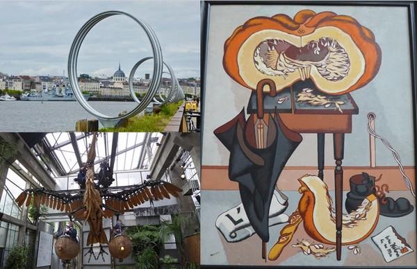 1/ Ile de Nantes @ C.Gary;  2/ Musée d'Arts Jean Hélion 1948 @ C.Gary; 3/ Les Machines de l'Ile @ C.Gary