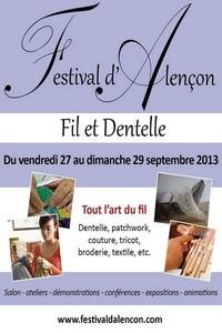 """Affiche du festival """"Fil et dentelle"""""""