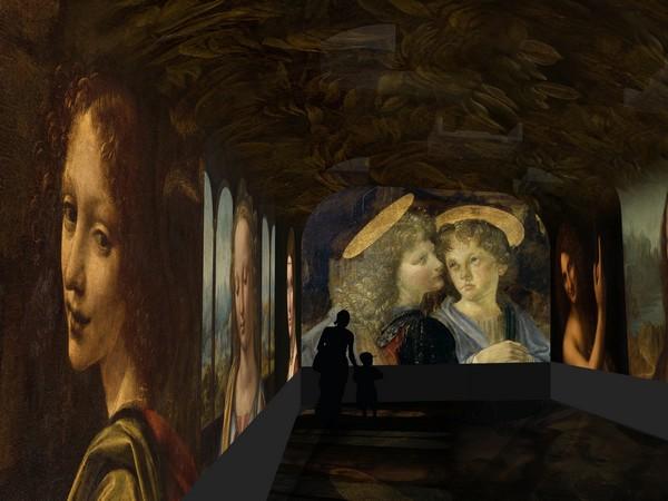 Spectacle immersif - image de synthèse@ Château du Clos Lucé - Parc Léonard de Vinci. Arc en scène - Drôle de Trame.
