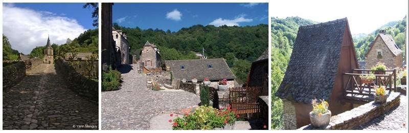 les maisons en pierre de Pays aux toitures de Lauzes (photos Yann Menguy)