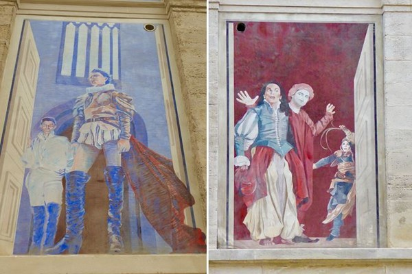 Fenêtre peinte. Gérard Philippe dans Le Cid @C.G La Nuit des Rois Théâtre du Soleil. @C.Gary