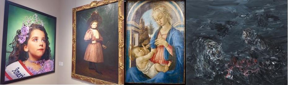 Confrontations d'œuvres d'époques différentes au Musée Calvet @C.Gary ;  Botticelli au musée du Petit Palais@ C.Gary ; Expo Tigres et Vautours à la Collection Yvon Lambert